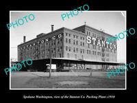 OLD LARGE HISTORIC PHOTO OF SPOKANE WASHINGTON, THE STANTON PACKING Co c1910