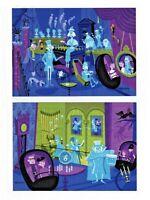 "Disney Postcard - WonderGround Gallery - ""31 Ghosts"" - SHAG - 2 card set"