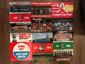 League Cup Final Programmes - 1966 - 1984