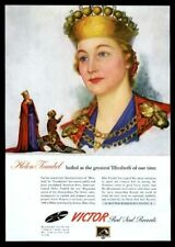 1943 Helen Traubel portrait Victor Records vintage print ad