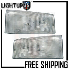 Headlights Headlamps Pair Left right set for Ford Super Duty Pickup Truck