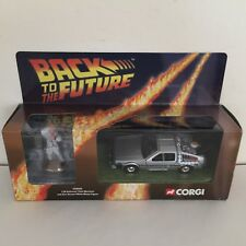 Corgi Cc05501 DeLorean Time Machine with Doc Brown White Metal Figure 1:36 Nib!