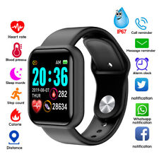 WATERPROOF SPORT SMART WATCH BRACELET HEART RATE BLOOD PRESSURE FITNESS TRACKER