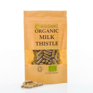 Organic Milk Thistle 1000mg HPMC Capsule Liver Detox Silymarin Antioxidant Vegan