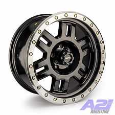 "18"" Vision 398 Manx Black Machine Wheel 18x9 6x135mm 18mm Ford Lincoln 6 Lug Rim"