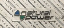 Scritta Emblema Logo NATURAL POWER (FIAT) ORIGINALE