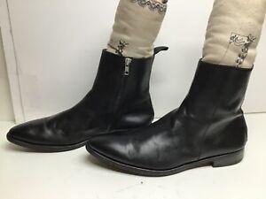 VTG MENS UNBRANDED SHORT CASUAL BLACK BOOTS SIZE 9.5