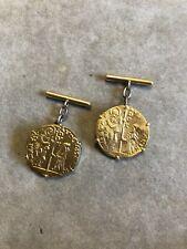 Manschettenknöpfe Zecchino Gold 750 18 karat münze dukaten venedig d oro