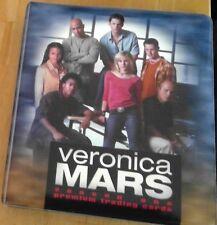 Brand New Unused.Veronica Mars Season 1 Binder and Season 2 Binder plus Base Set