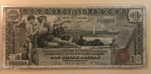 1896 Educational $1 one dollar silver certificate