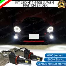 KIT FULL LED FIAT 124 SPIDER LAMPADE H11 FENDINEBBIA CANBUS 6400 LUMEN 6000K