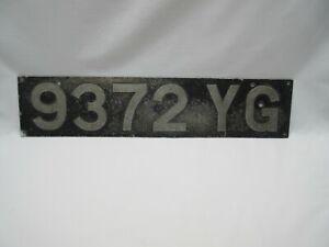 Vintage industrial UK Tarmac road work machine vehicle car? number plate 9372 YG