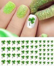 St. Patrick's Day Shamrock Nail Art Waterslide Decals - Nail Salon Quality!