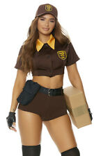 Sexy Forplay Precious Cargo Delivery Babe Brown 6pc UPS Costume 551516