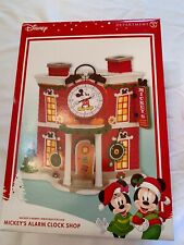 Dept 56 Disney Mickey's Merry Christmas Village Alarm Clock Shop 4057261 New