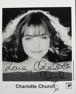 CHARLOTTE CHURCH: Singer, TV presenter. Voice of an Angel. COA.