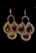 Hand Made Rhinestone Champaign Drop Chandelier Earrings