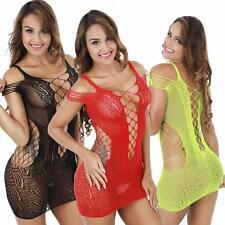 Sexy Women Lingerie Fishnet Stockings Body Dress Underwear Babydoll Linen