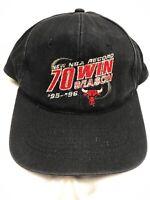 Chicago Bulls 1995-96 NBA Record 70 Win season Black HAT men's snapback