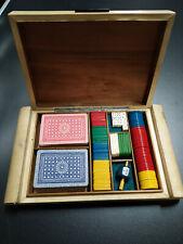 Box per carte gioco con fiches - vintage