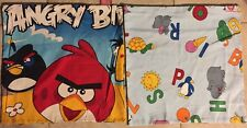 2 Animal Letter A,B+Angry Birds Cotton Pillowcase Children Bedroom Cushion Cover