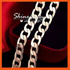 9K ROSE GOLD FILLED PLAIN FLAT CURB RINGS LINKS CHAIN SOLID MENS WOMENS NECKLACE