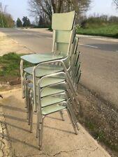6 Chaises vintage en métal et formica