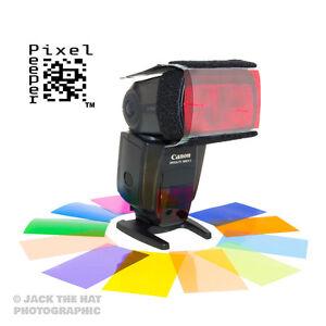 Colour Flash Lighting Gels + Universal Holder. Fits Rosco Strobist Collection