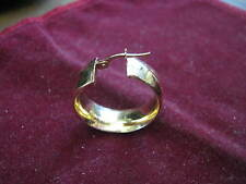"ONE Swirled Ribbon Design 14K YELLOW GOLD 15/16"" Cuff Earring MILOR ITALY Lqqk!"