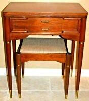Singer Sewing Cabinet Table & Stool 301 401A 403 404 411 412 500 503 328 348 MCM