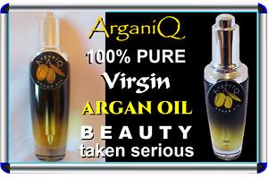 ARGANIQ  100% Pure Virgin Argan Oil, Clearer Skin in a week, Instant Hair Health