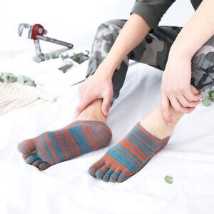 2/3/5Pairs Fashion Men Five Fingers Separate Toe Socks Comfortable Cotton Socks