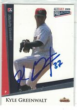 2009 TriStar Projections Kyle Greenwalt Greeneville Astros Authentic Autograph