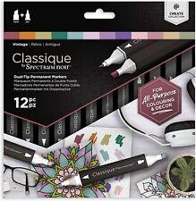 Spectrum Noir Classique - Dual Tip Permanent Markers - 12pc - (VINTAGE)