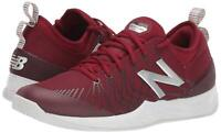 New Balance Men's Shoes MCHLAVEN Fabric Low Top Lace Up, Scarlet/White, Size 9.0