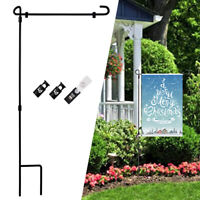 "36x16.5"" Festival Garden Flag Pole Holder Stand Metal Iron Stake Pole Christmas"
