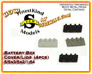 FinestKind Models Industrial Battery Box Cover (4pcs) NOS S/Sn3/Sn2/1:64