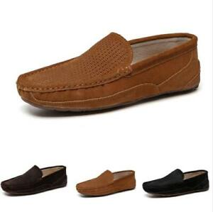 Mens Driving Moccasins Shoes Pumps Slip on Loafers Soft Comfy Breathable Flats