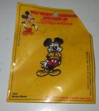 Vintage Mickey Mouse Character Appliques Walt Disney Productions Streamline New