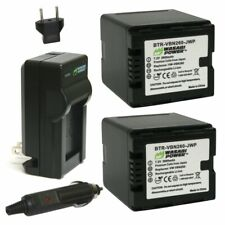 Wasabi Power Battery (2-Pack) and Charger for Panasonic VW-VBN260 (2800mAh)