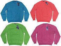 $695 Ralph Lauren Purple Label Mens Italy Cotton Cashmere Solid Crewneck Sweater