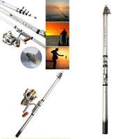 Travel Spinning Angelruten Teleskop Travel Fishing Pole 5.2: 1