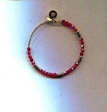 ALEX & ANI  gold red glass bead bracelet