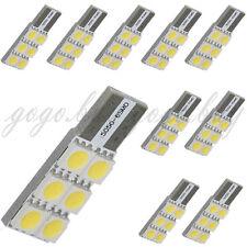 10 x T10 194 168 W5W 6 5050-SMD LED Wedge Turn Tail Car Light Bulbs Ultra White