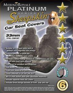 Sheepskin Car Seat Covers for Hyundai Santa Fe, Seat Airbag Safe 5 Colours,33mm