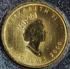 2000 Canada 1/10 oz Gold Maple Leaf BU (Oval 2000 Privy Mark)