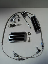 Billet Aluminum Gas Pedal / Brake Pad / Stainless Throttle Cable / Bracket Kit