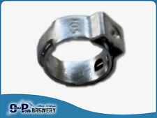 5 X STAINLESS STEPLESS LINE CLAMPS, 4-6MM ID BEER & GAS LINE, BEER BREWING, KEG