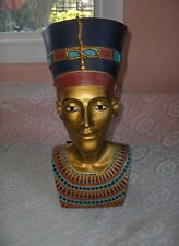 Ceramic Nefertiti Bust Sculpture Statue Egyptian Queen Mabrouk Imports Figurine