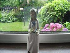 Vintage Torralba Porcelain Figurine of Lady with Basket of Flowers
